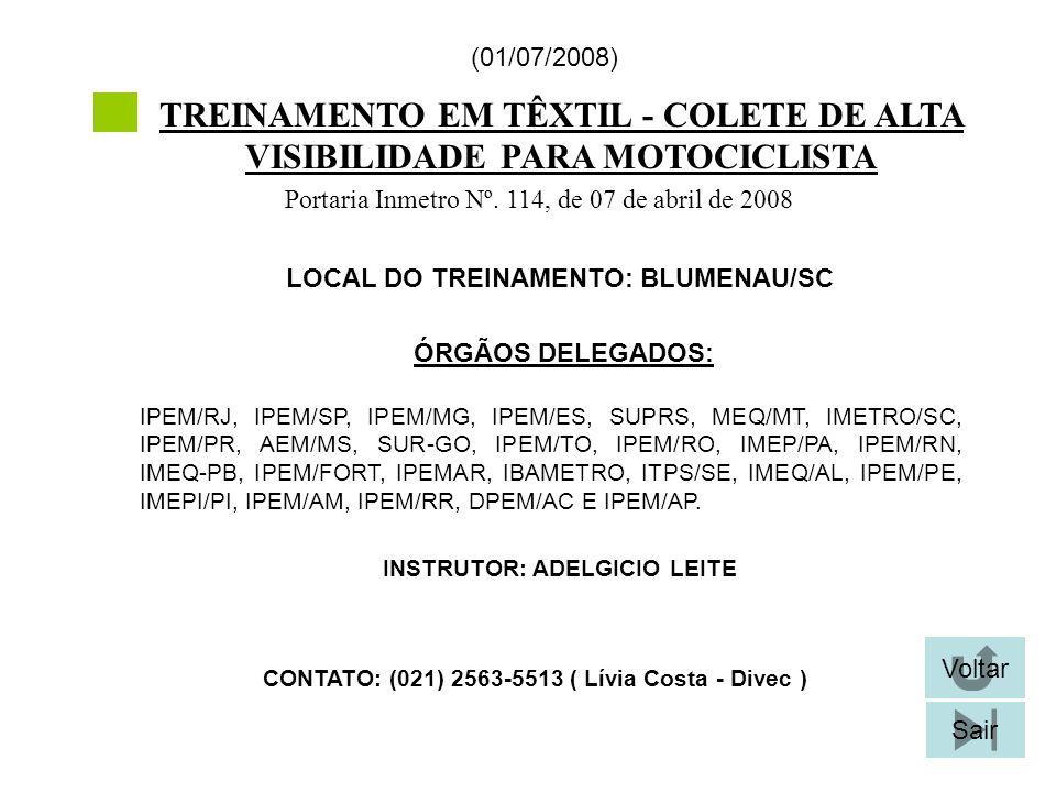 TREINAMENTO EM TÊXTIL - COLETE DE ALTA VISIBILIDADE PARA MOTOCICLISTA
