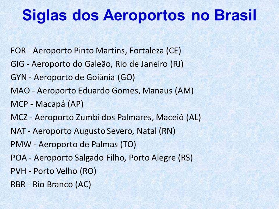 Siglas dos Aeroportos no Brasil