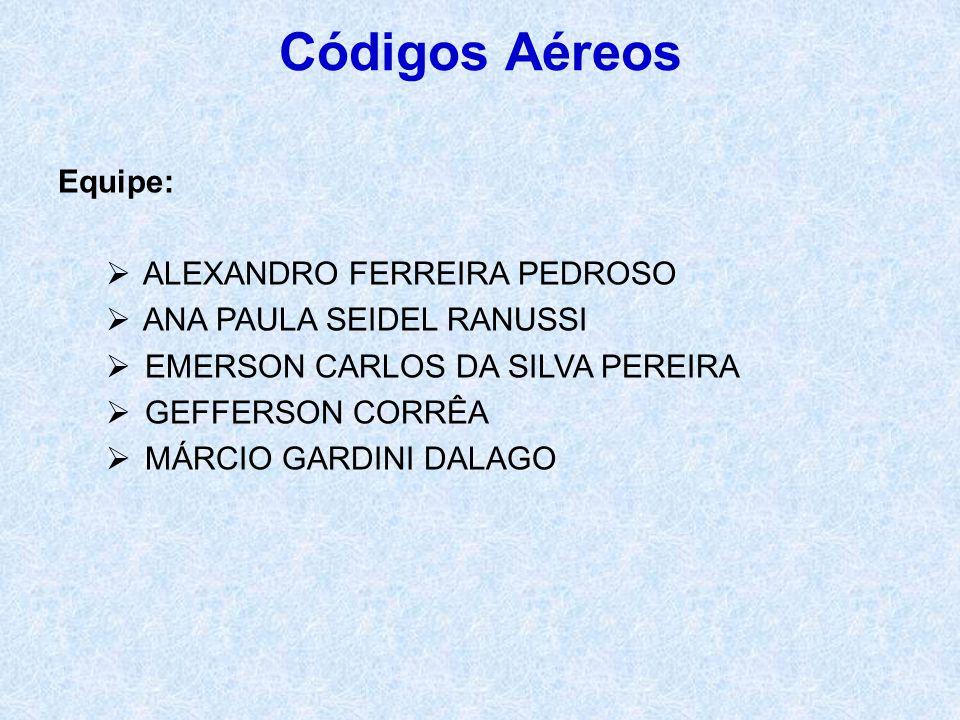 Códigos Aéreos Equipe: ALEXANDRO FERREIRA PEDROSO
