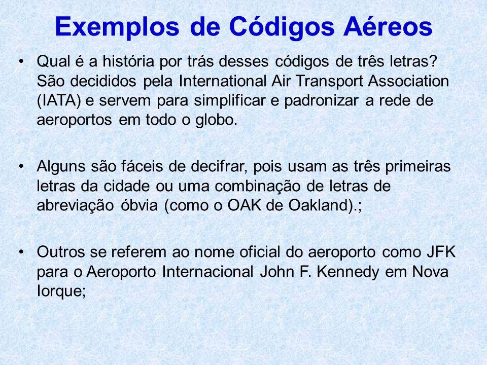 Exemplos de Códigos Aéreos