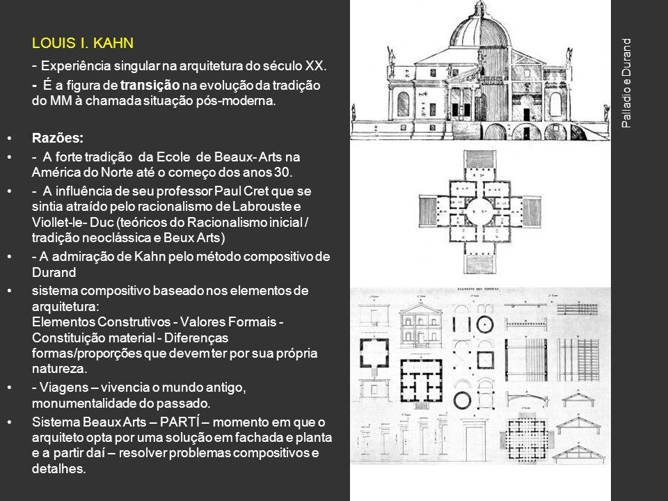 LOUIS I. KAHN - Experiência singular na arquitetura do século XX.