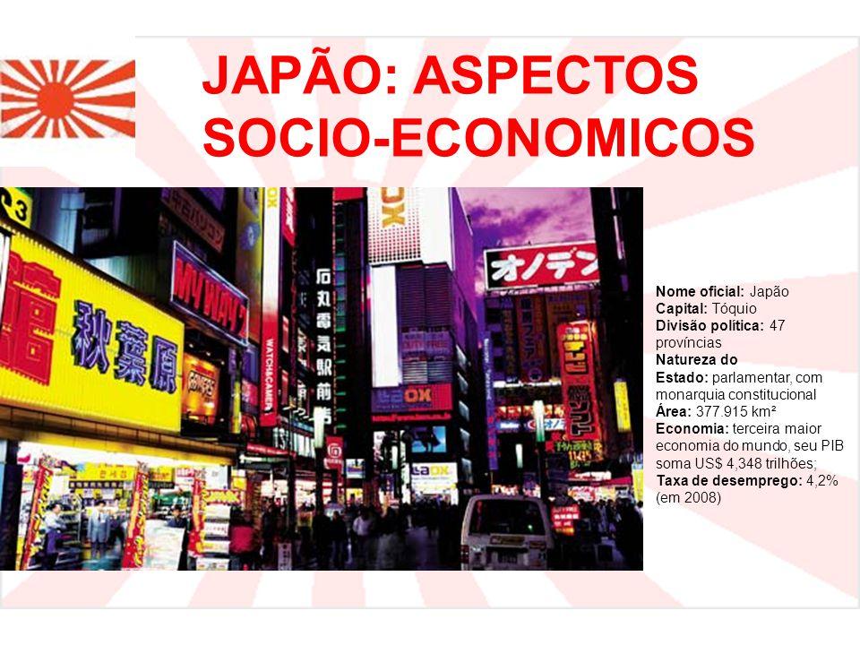 JAPÃO: ASPECTOS SOCIO-ECONOMICOS