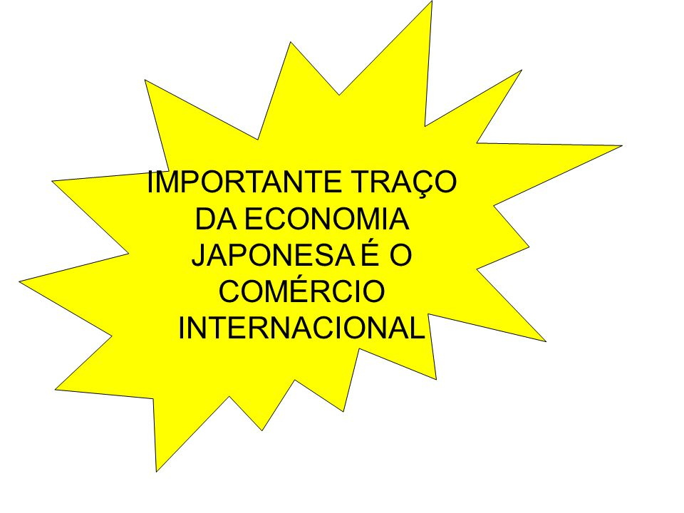 IMPORTANTE TRAÇO DA ECONOMIA JAPONESA É O COMÉRCIO INTERNACIONAL