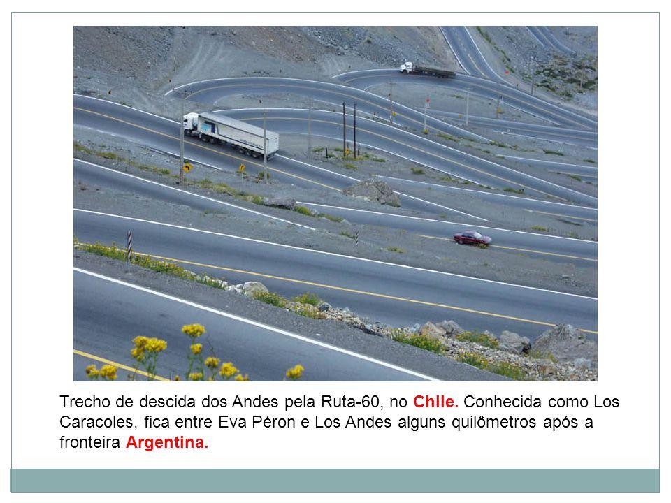 Trecho de descida dos Andes pela Ruta-60, no Chile