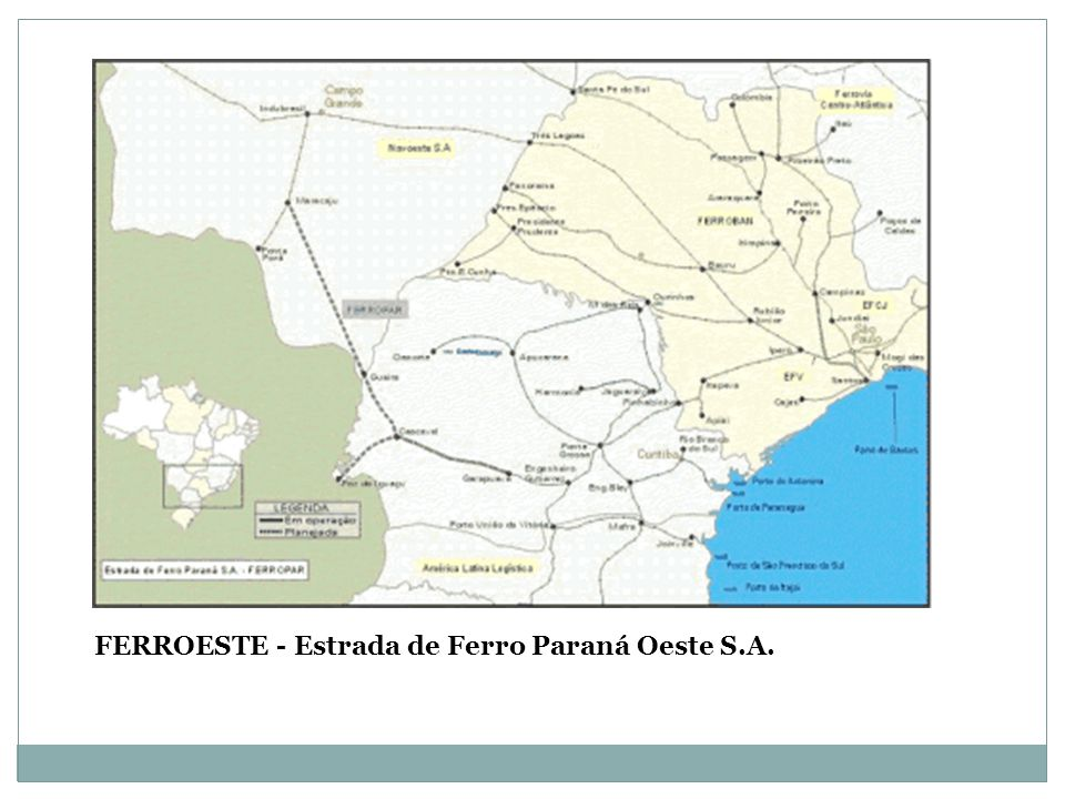 FERROESTE - Estrada de Ferro Paraná Oeste S.A.