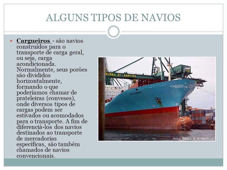 ALGUNS TIPOS DE NAVIOS
