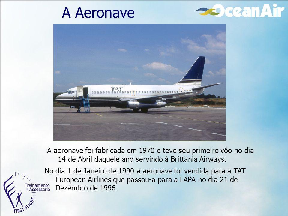 A Aeronave A aeronave foi fabricada em 1970 e teve seu primeiro vôo no dia 14 de Abril daquele ano servindo à Brittania Airways.