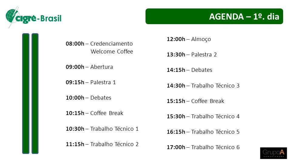 AGENDA – 1º. dia 12:00h – Almoço 08:00h – Credenciamento
