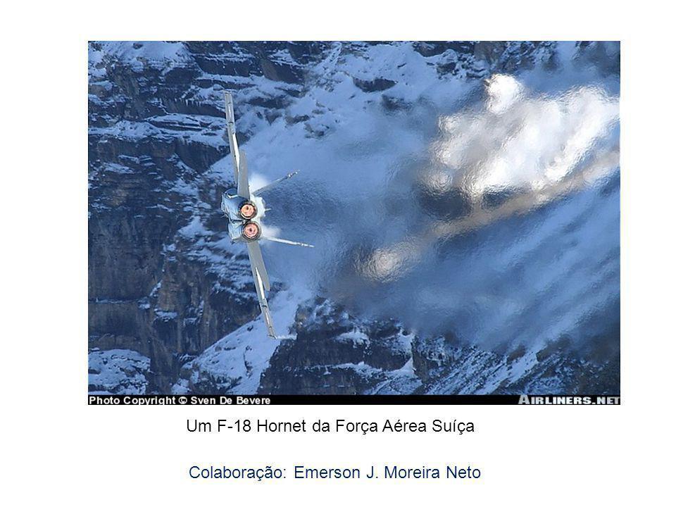 Um F-18 Hornet da Força Aérea Suíça