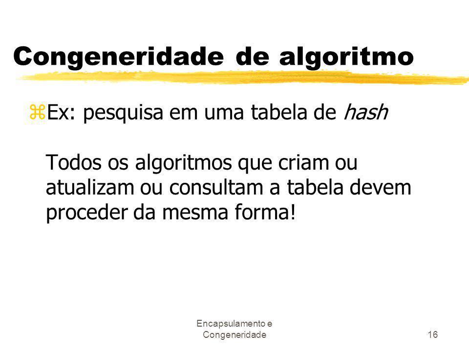 Congeneridade de algoritmo