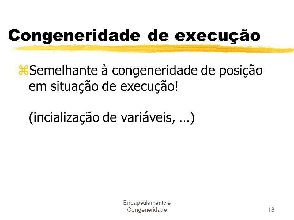 Congeneridade de execução