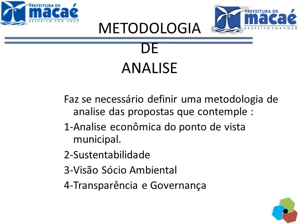 METODOLOGIA DE ANALISE