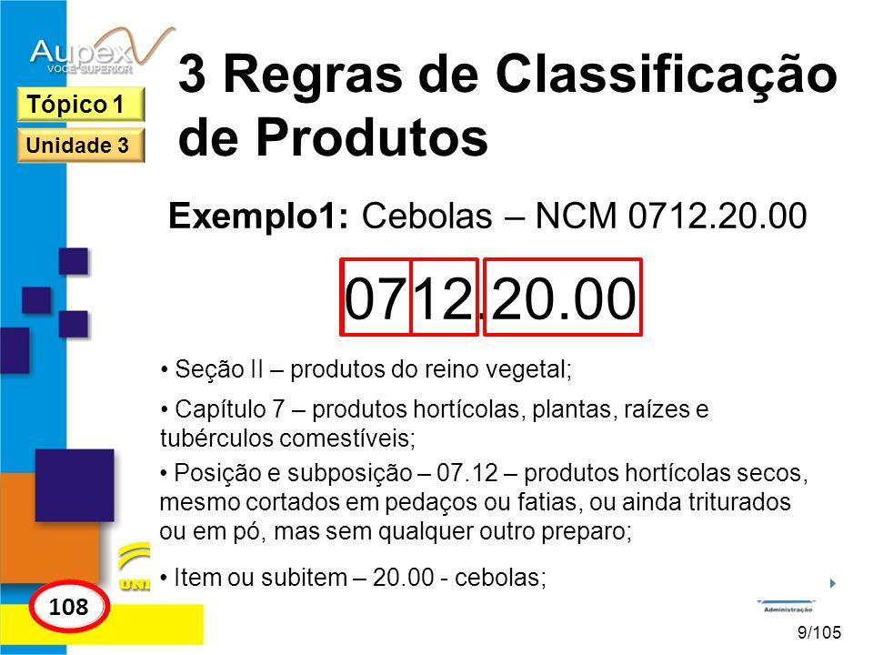3 Regras de Classificação de Produtos