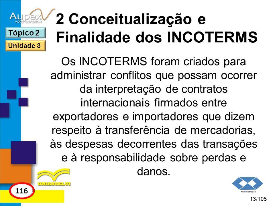2 Conceitualização e Finalidade dos INCOTERMS