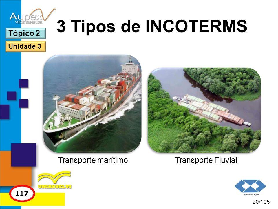 3 Tipos de INCOTERMS 117 Tópico 2 Transporte marítimo