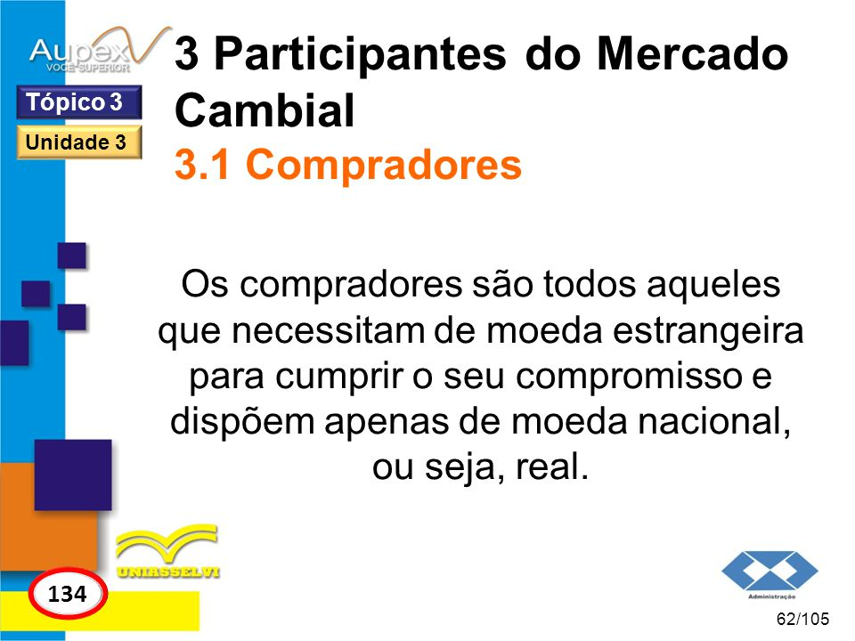 3 Participantes do Mercado Cambial 3.1 Compradores