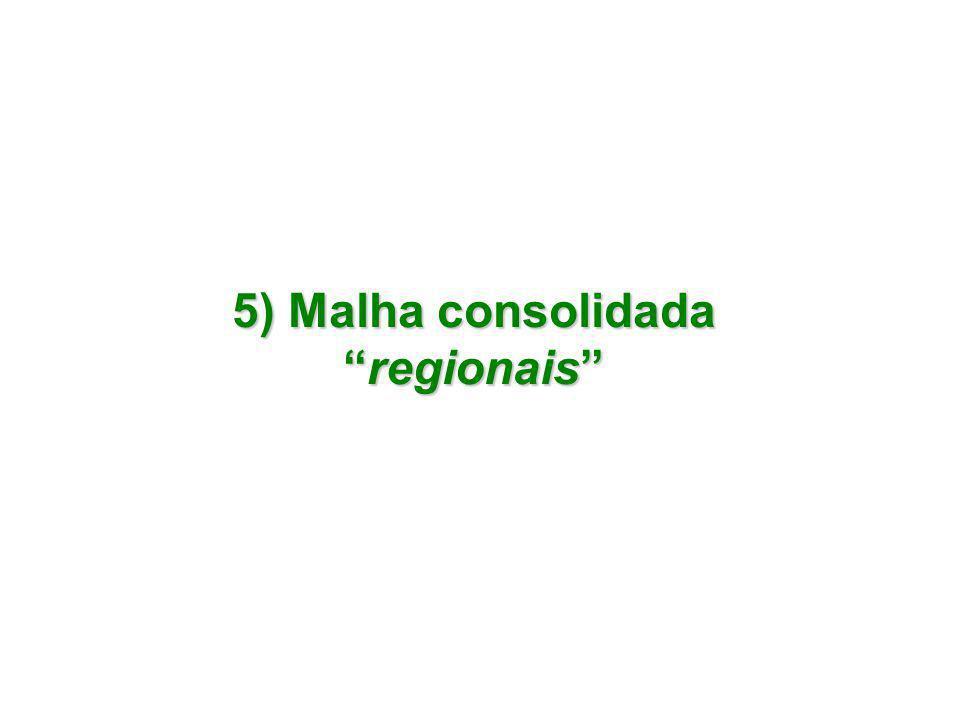 5) Malha consolidada regionais