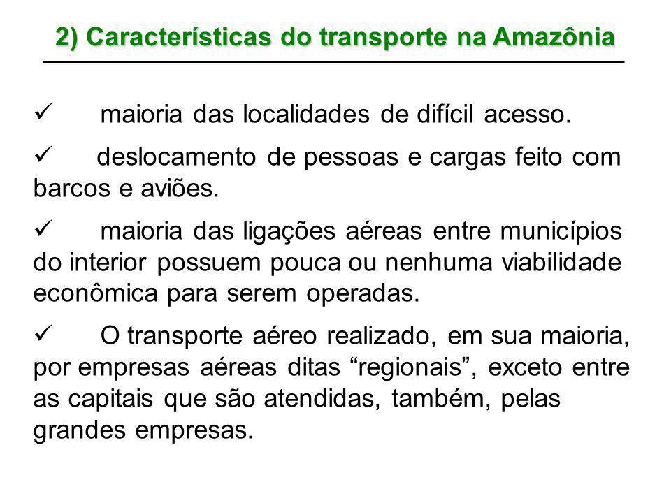 2) Características do transporte na Amazônia