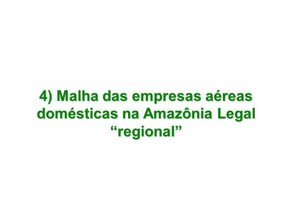 4) Malha das empresas aéreas domésticas na Amazônia Legal