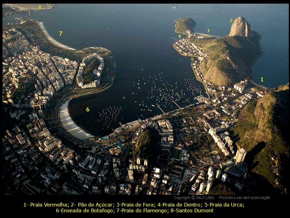 6-Enseada de Botafogo; 7-Praia do Flamengo; 8-Santos Dumont