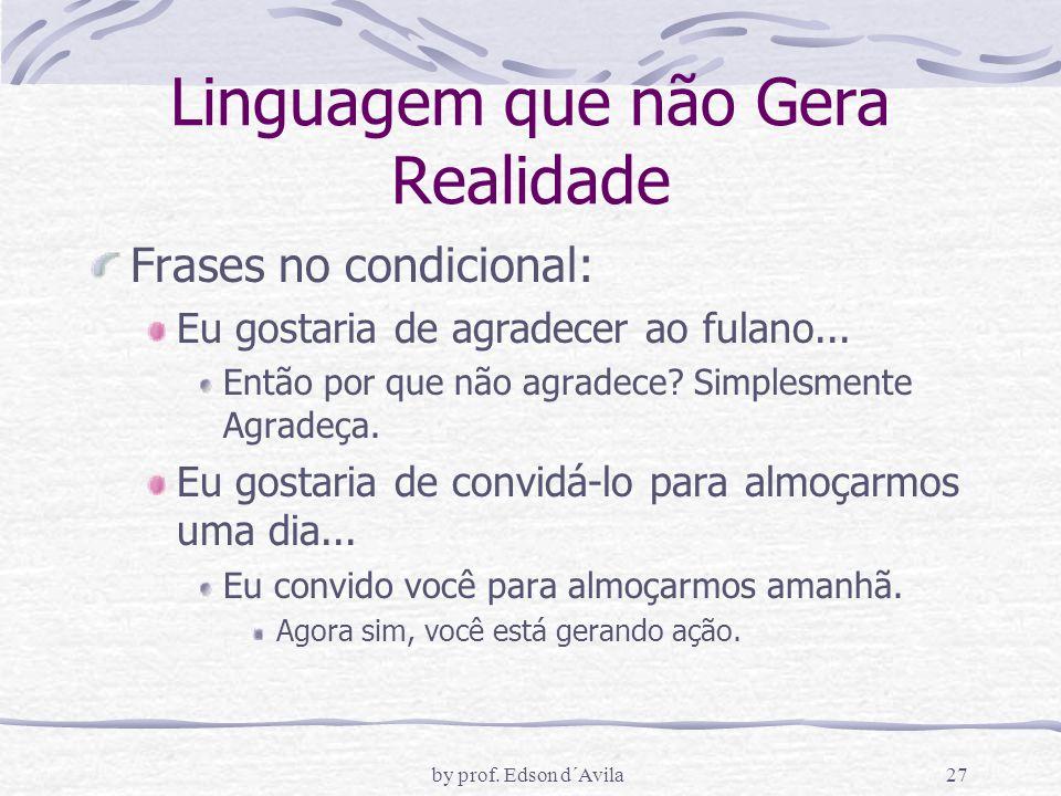 Linguagem que não Gera Realidade