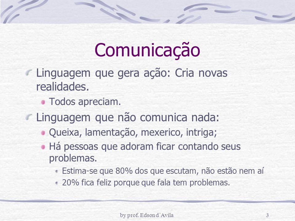Comunicação Linguagem que gera ação: Cria novas realidades.
