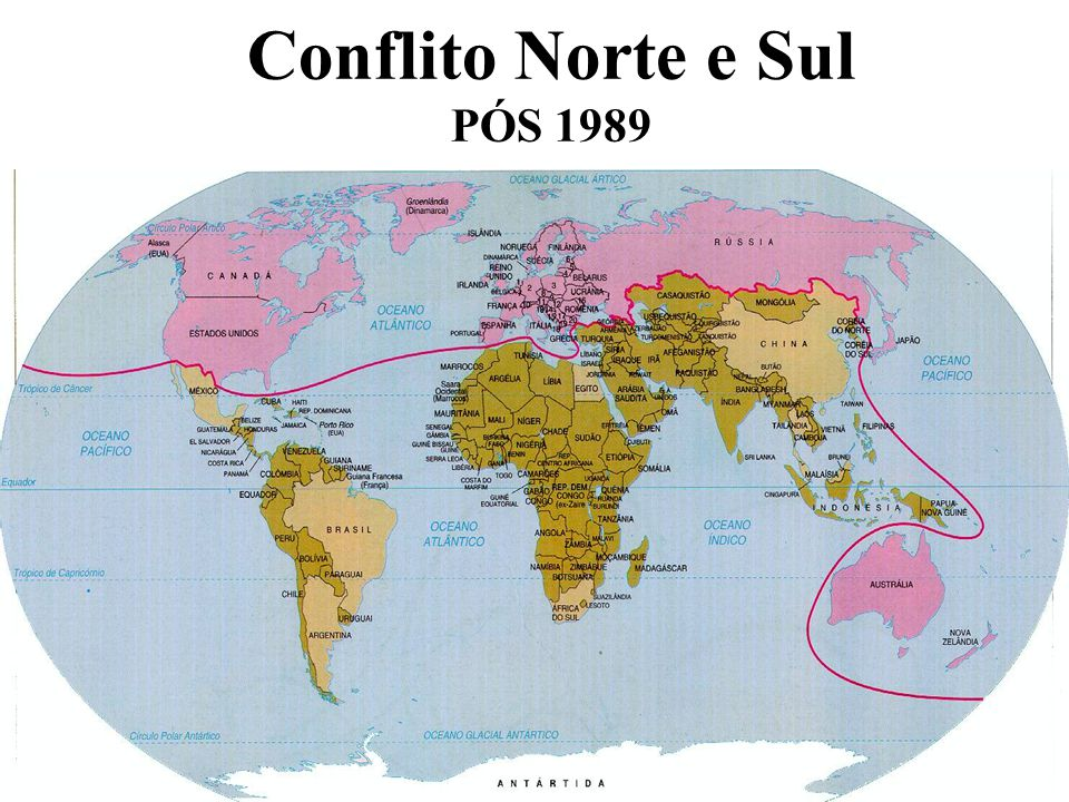 Conflito Norte e Sul PÓS 1989