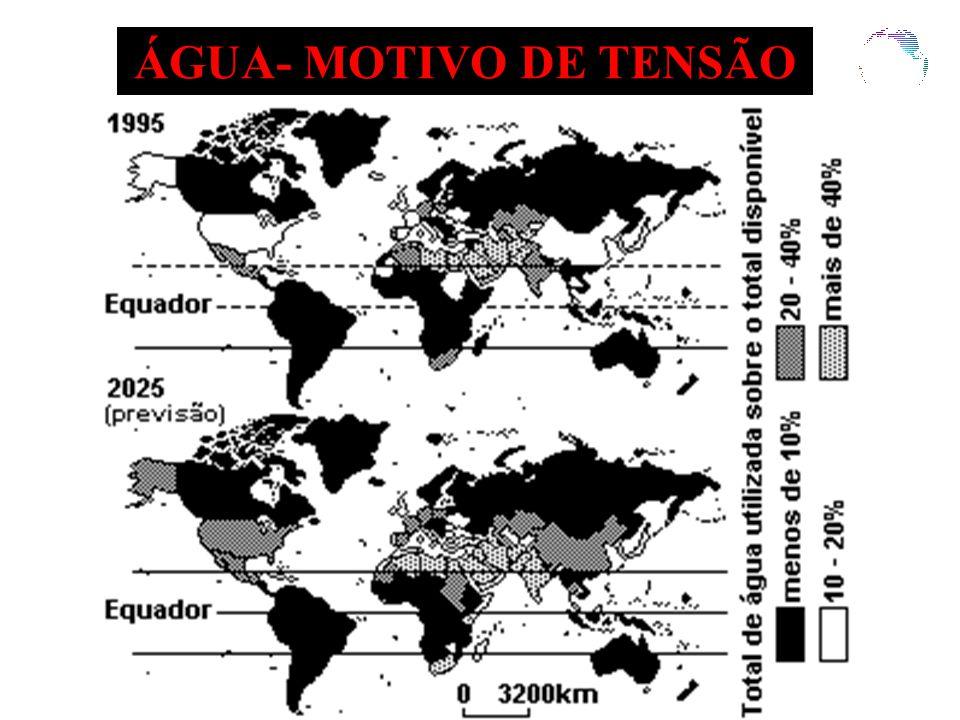 ÁGUA- MOTIVO DE TENSÃO