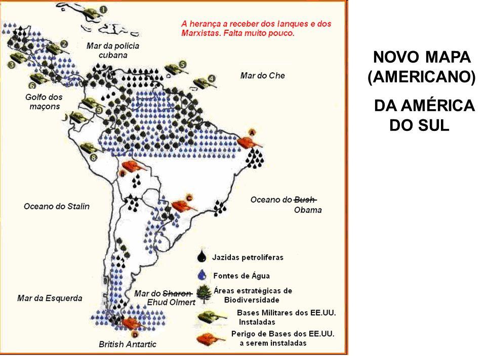 NOVO MAPA (AMERICANO) DA AMÉRICA DO SUL