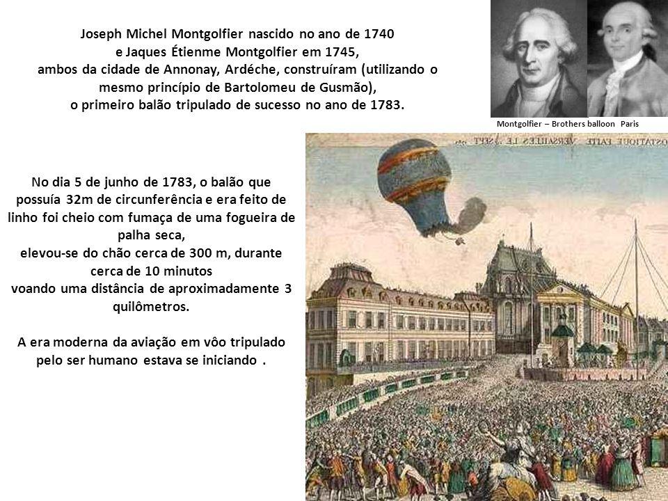 Joseph Michel Montgolfier nascido no ano de 1740