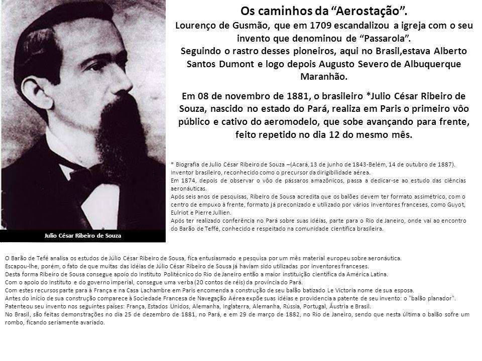 Os caminhos da Aerostação . Julio César Ribeiro de Souza