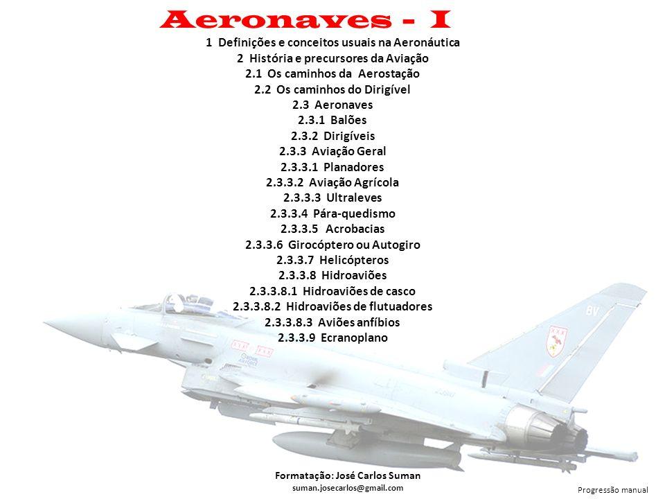 Aeronaves - I 1 Definições e conceitos usuais na Aeronáutica