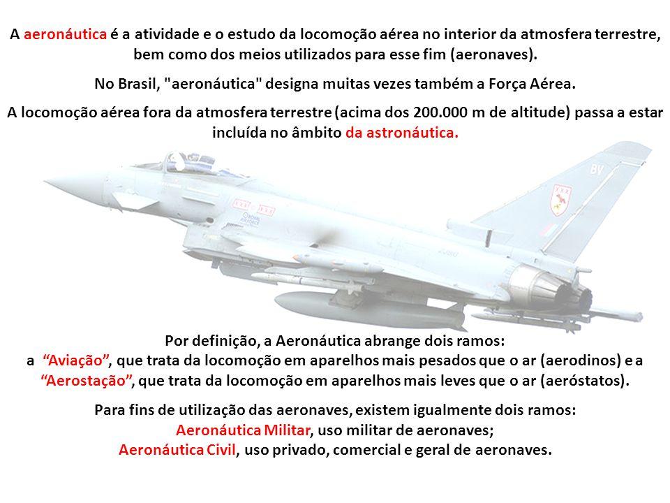 No Brasil, aeronáutica designa muitas vezes também a Força Aérea.