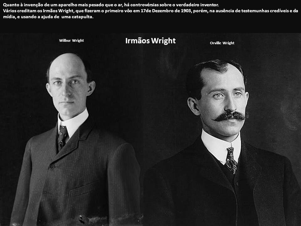 Quanto à invenção de um aparelho mais pesado que o ar, há controvérsias sobre o verdadeiro inventor.