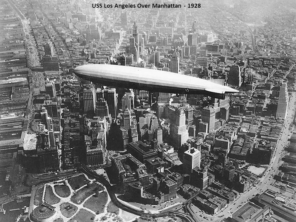 USS Los Angeles Over Manhattan - 1928