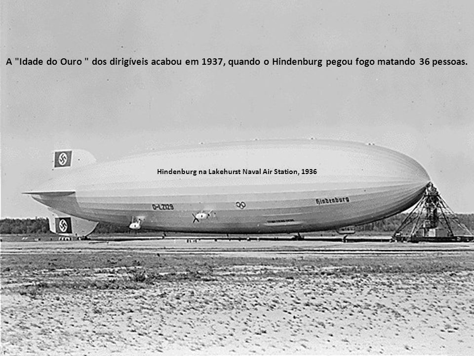 Hindenburg na Lakehurst Naval Air Station, 1936