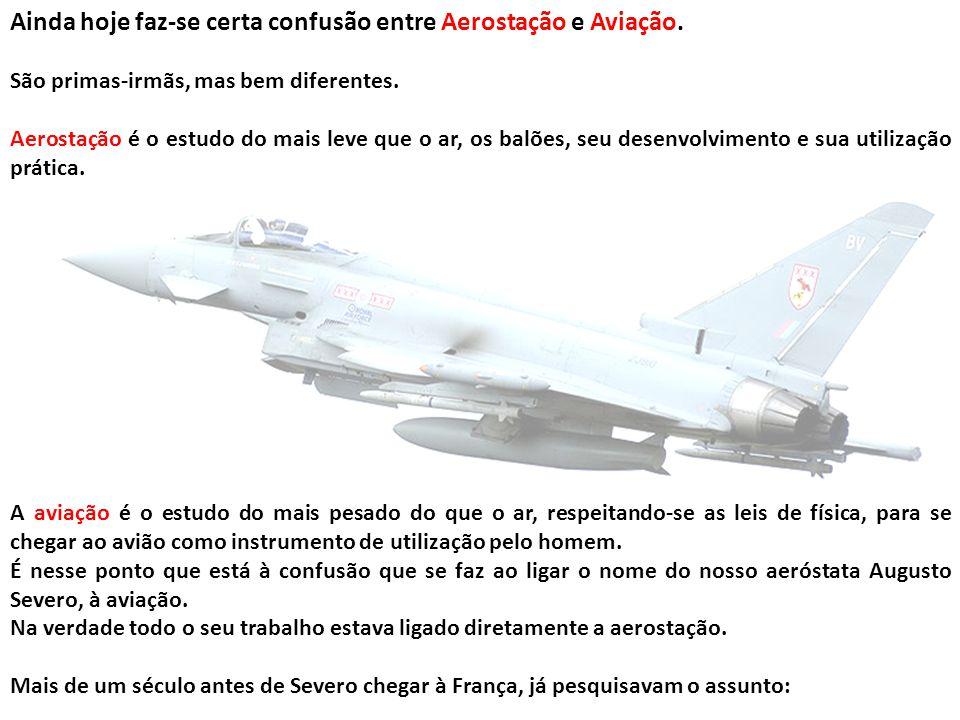 Ainda hoje faz-se certa confusão entre Aerostação e Aviação.