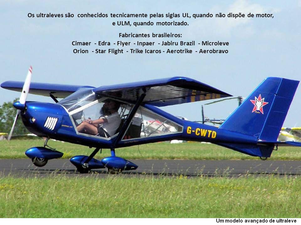 e ULM, quando motorizado. Fabricantes brasileiros: