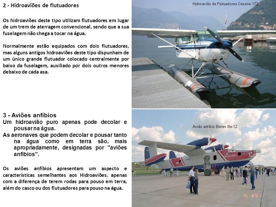 2 - Hidroaviões de flutuadores