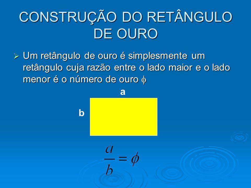CONSTRUÇÃO DO RETÂNGULO DE OURO