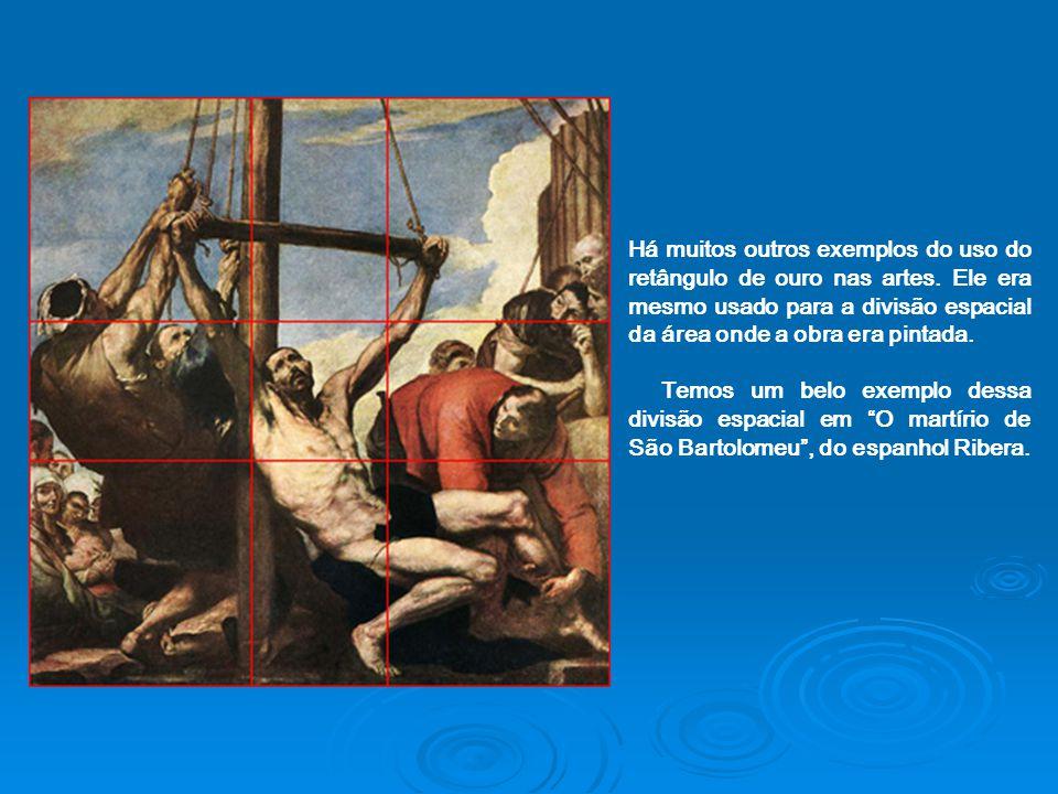 Há muitos outros exemplos do uso do retângulo de ouro nas artes
