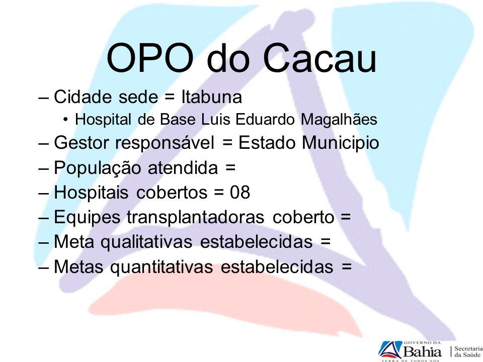 OPO do Cacau Cidade sede = Itabuna