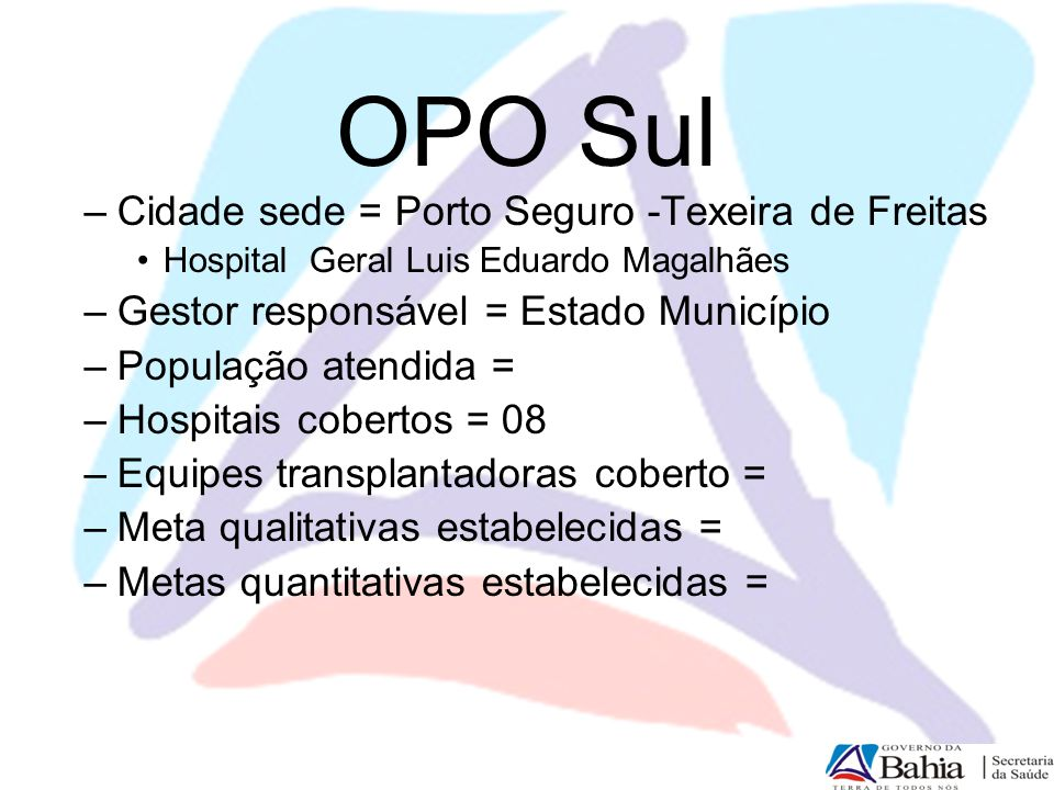 OPO Sul Cidade sede = Porto Seguro -Texeira de Freitas
