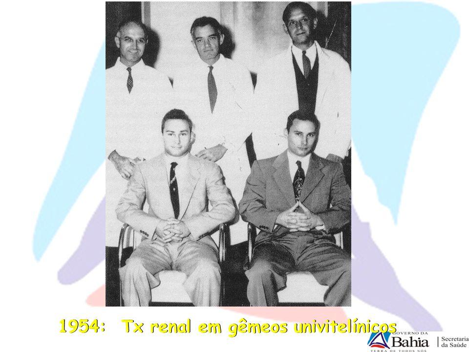 1954: Tx renal em gêmeos univitelínicos