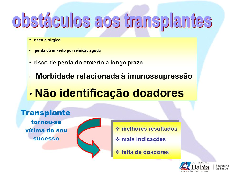 obstáculos aos transplantes