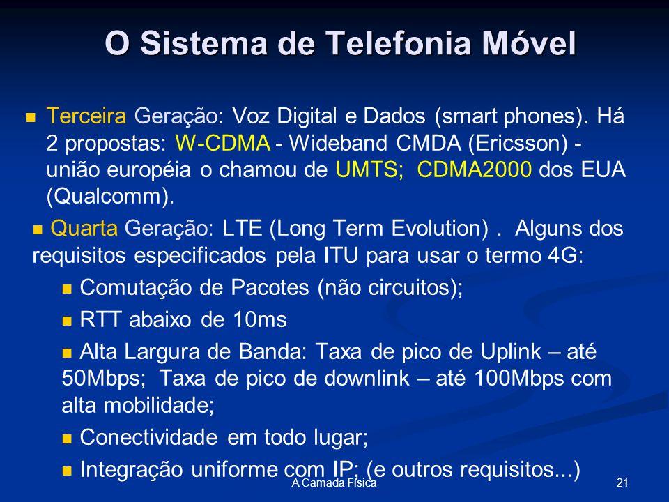 O Sistema de Telefonia Móvel