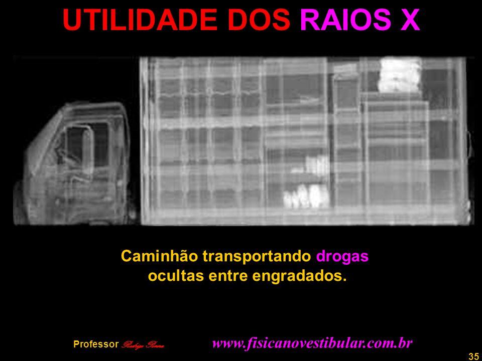 UTILIDADE DOS RAIOS X Caminhão transportando drogas