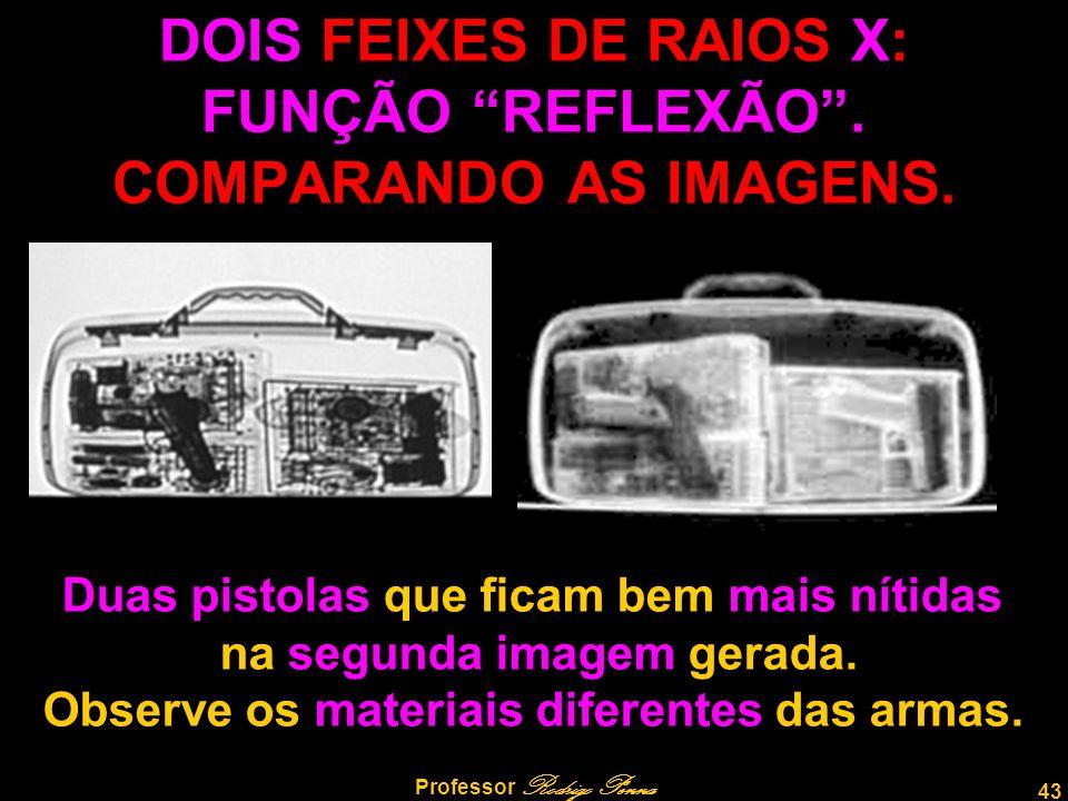 DOIS FEIXES DE RAIOS X: FUNÇÃO REFLEXÃO . COMPARANDO AS IMAGENS.