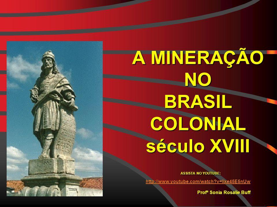 A MINERAÇÃO NO BRASIL COLONIAL século XVIII ASSISTA NO YOUTUBE: http://www.youtube.com/watch v=Ilxe45E5nUw Profª Sonia Rosalie Buff