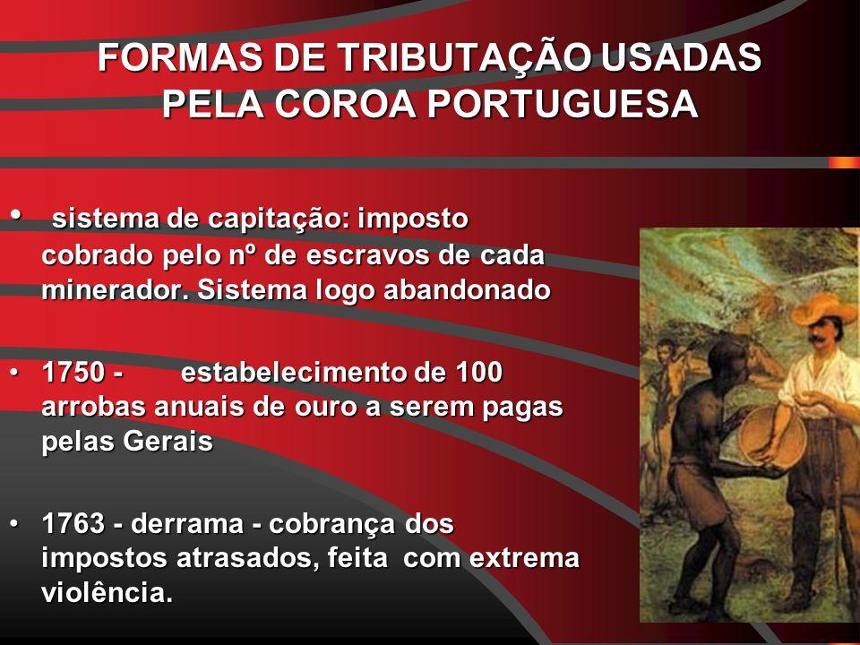 FORMAS DE TRIBUTAÇÃO USADAS PELA COROA PORTUGUESA